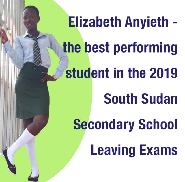 South Sudan top performing student
