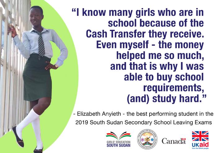 Elizabeth top student South Sudan