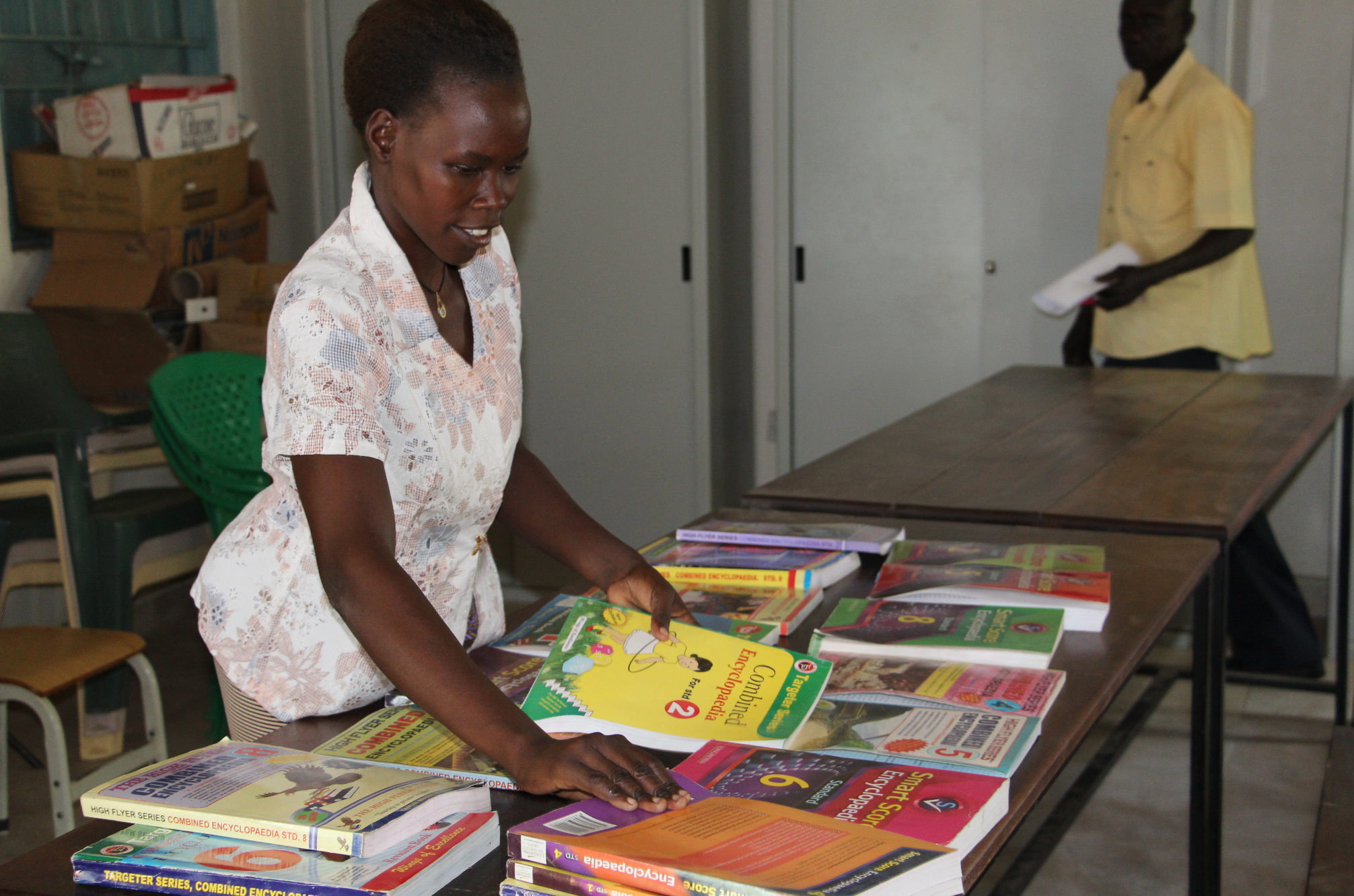Capitation Grants help school management to prioritise the needs of the school and the learners. Gumbo Basic School in Jubek State bought text books with their Capitation Grant.