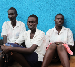 Girls in South Sudan