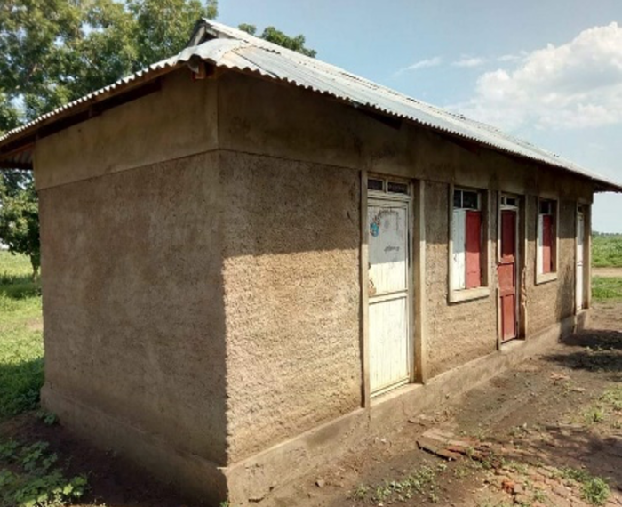 One of the classrooms at Liang Mamur Primary School after the doors and window repairs