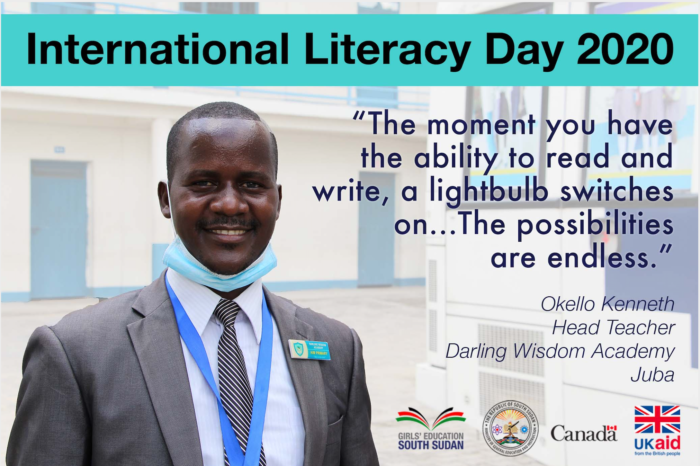 South Sudan Head Teacher on International Literacy Day