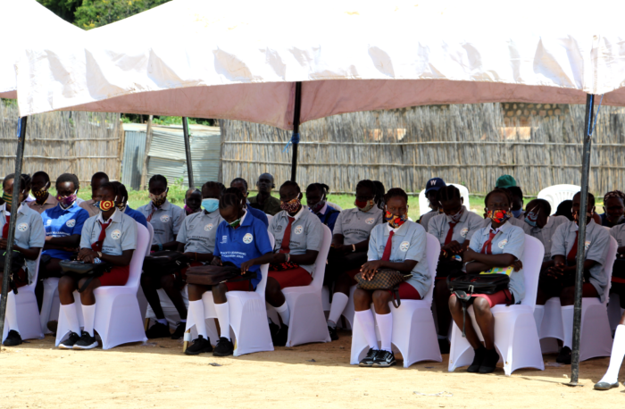 Learners at the Back to Learning event in Juba