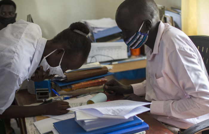 Girl from Salaam Secondary School in Juba at Cash Transfer Validation exercise earlier in November