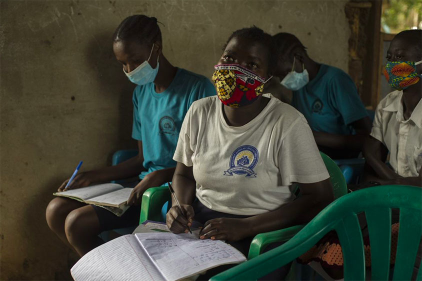 South Sudanese learner during COVID-19
