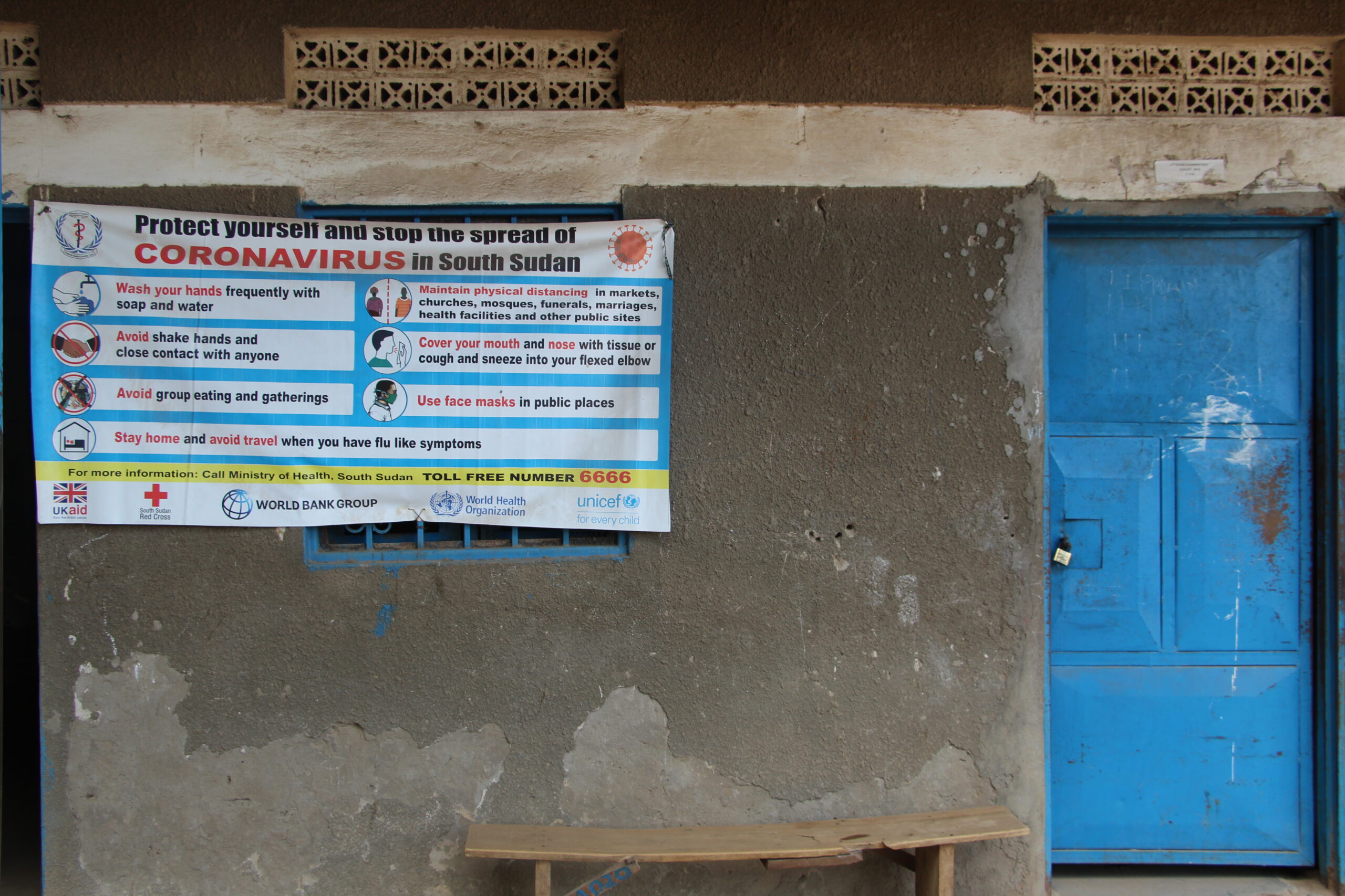 Outside one of the classrooms at Martyrs Memorial Secondary School in Juba